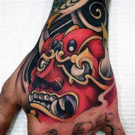 hannya mask tattoo designs men japanese ink ideas