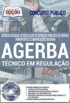 Apostila AGERBA Técnico em Regulação - Impressa e Download.
