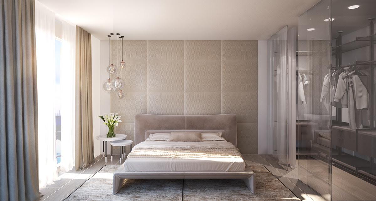upholsteredbedroomwalltexture - Bedroom Wall