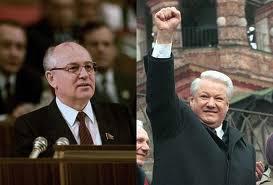 Gorbachev (Perestroika) e Yeltsin, a nova Russia.