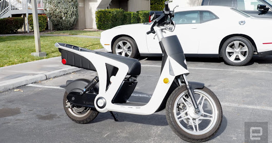 An electric scooter is the perfect vehicle for quick jaunts