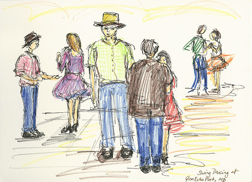 Swing dance at Glen Echo Park, Glen Echo, Maryland