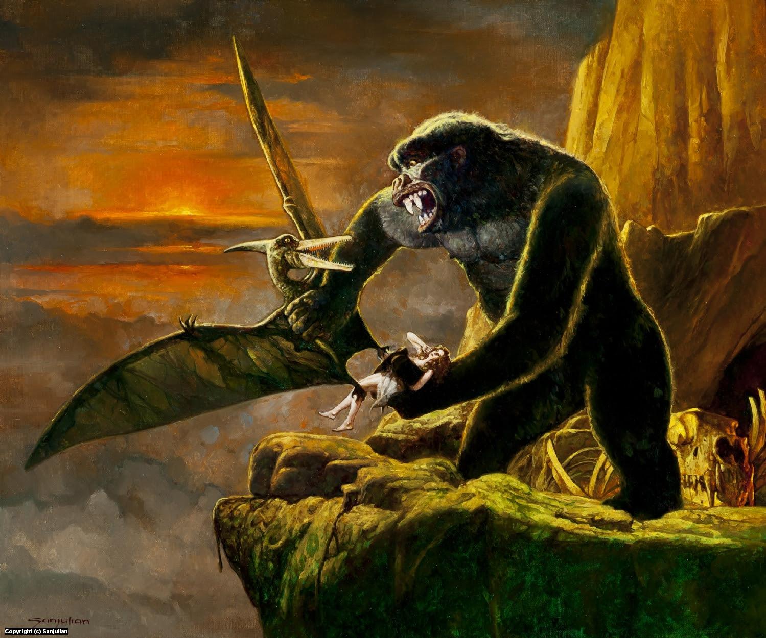 King Kong Artwork by Manuel Sanjulian