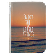 Inspirational Enjoy the Little Things Quote Kindle 3G Cover