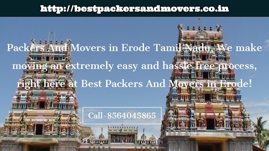 Which are the best packers and movers Erode, Tamil Nadu?
