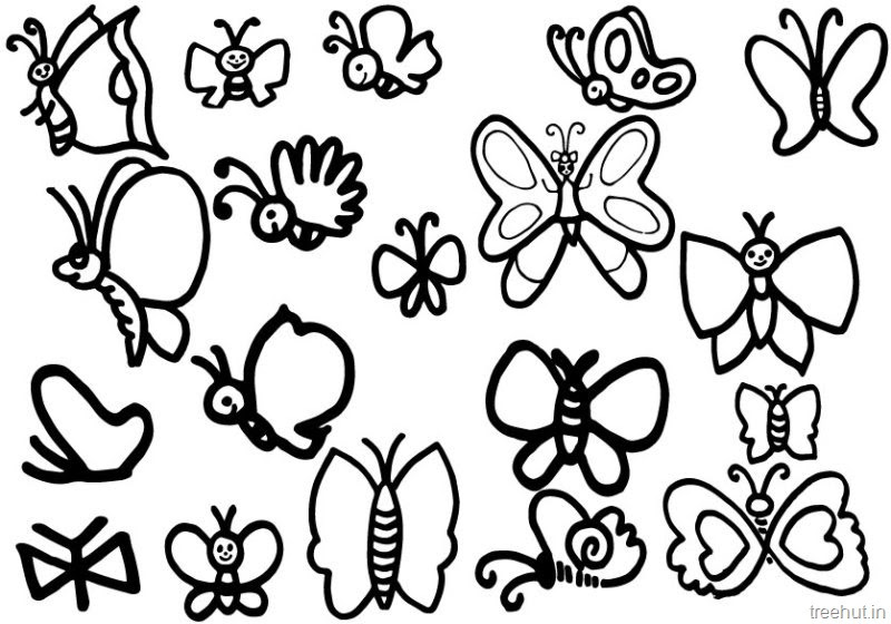 Cute Butterfly Coloring Page