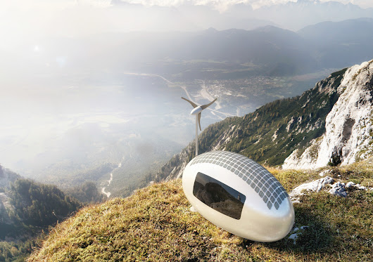 Eco Capsule: Mobile Grid-Free Home Harnesses Sun, Wind & Rain