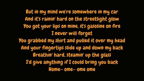 Somewhere In My Car Lyrics