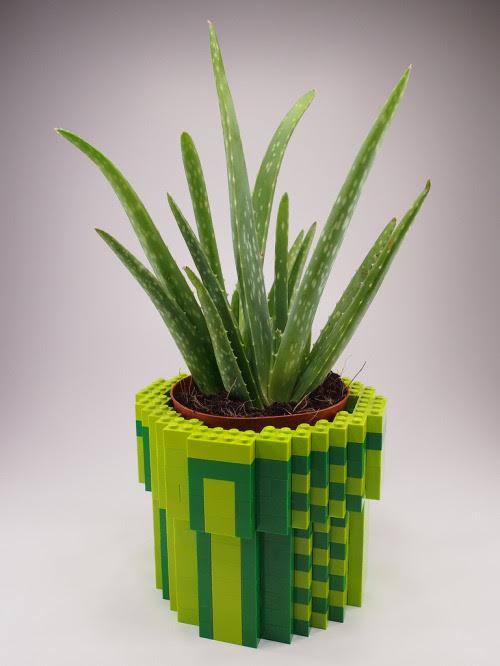 8-Bit LEGO Warp Pipe Planter