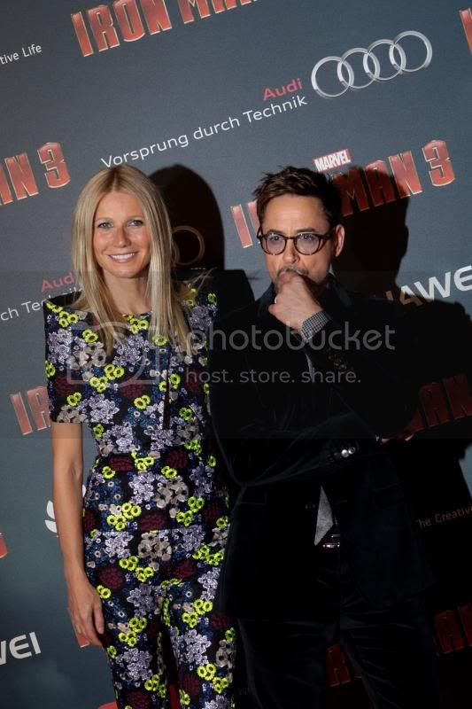 Iron Man 3 photo: Robert Downey Jr. and Gwyneth Paltrow in Paris to promote Marvel's IRON MAN 3. Photo by Walt Disney Studios Publicity, used by permission. SIRANOSIAN-IRONMAN3-2013-8213_zps4eaff0ee.jpg