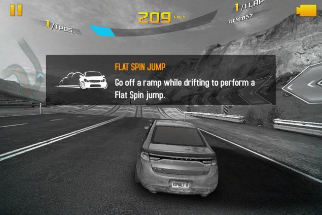 Asphalt 8: Airborne flat spin jump