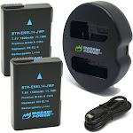 Wasabi Power Battery (2-Pack) And Dual Charger For Nikon EN-EL14, EN-EL14a