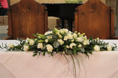 top table flower arrangements for weddings   Google Search