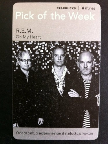 Starbucks iTunes Pick of the Week - R.E.M. - Oh My Heart