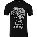 ShirtBANC Waiting For Mr Right Funny T-Shirt Meme Shirt (Mr Right