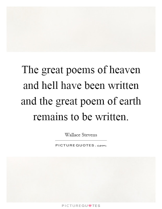 Poems Of Heaven On Earth Quotes