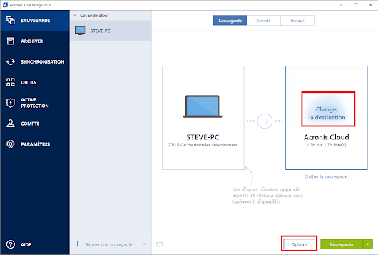 Faire une sauvegarde de Windows 10 avec Acronis True Image