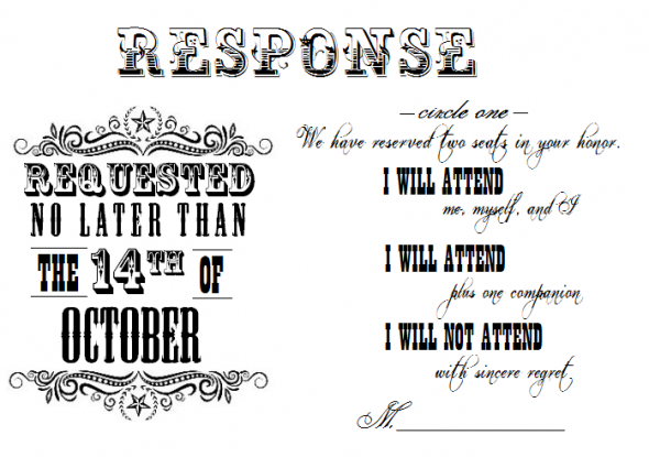Marne's blog: This is what the back of my RSVP card looks
