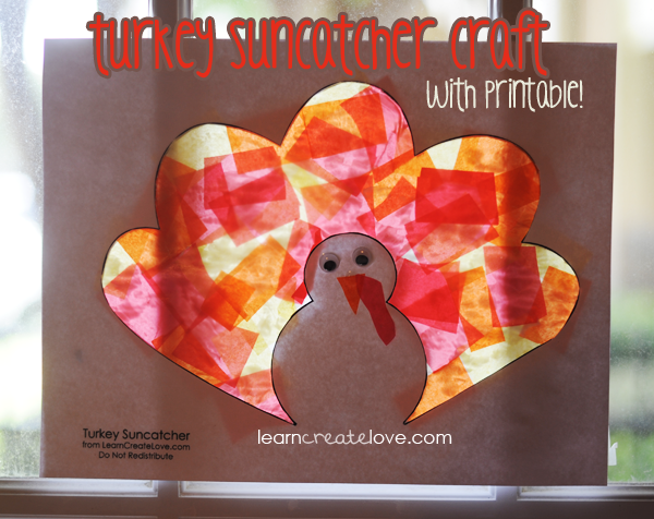 Turkey Suncatcher Craft For Preschool