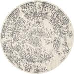 Safavieh Adirondack Vintage Distressed Round Area Rug, Ivory/Silver