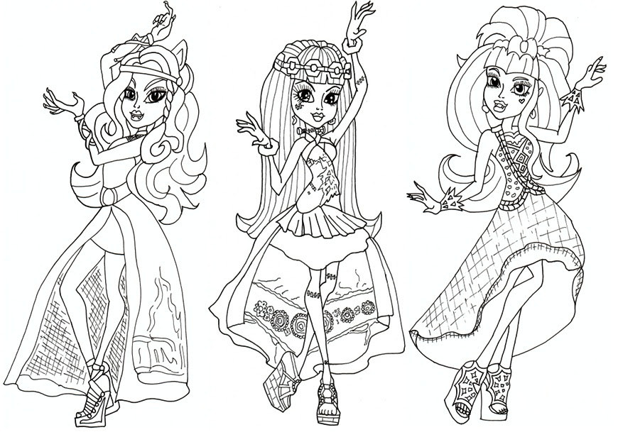 Monster High Coloring Page Coloringmecom