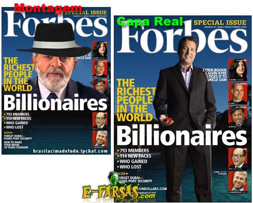 Revista Forbes - Capa real e montagem!