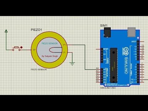 Piezo Sensor library for proteus