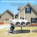 8CH Wireless CCTV System 1536P 1080P NVR wifi IR-CUT Outdoor 3MP AI IP CCTV Camera Security System Video Surveillance Kit China / None / White