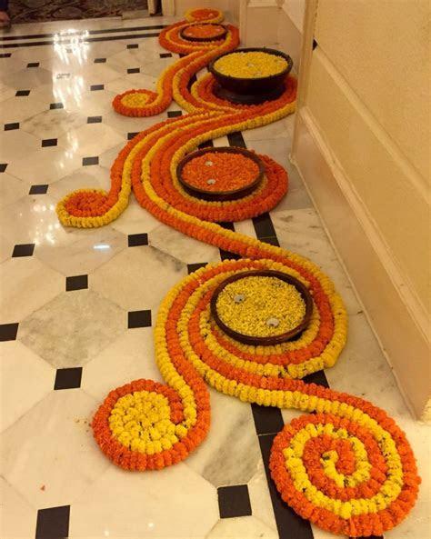 Floor flower arrangement   Flower arrangements   Diwali