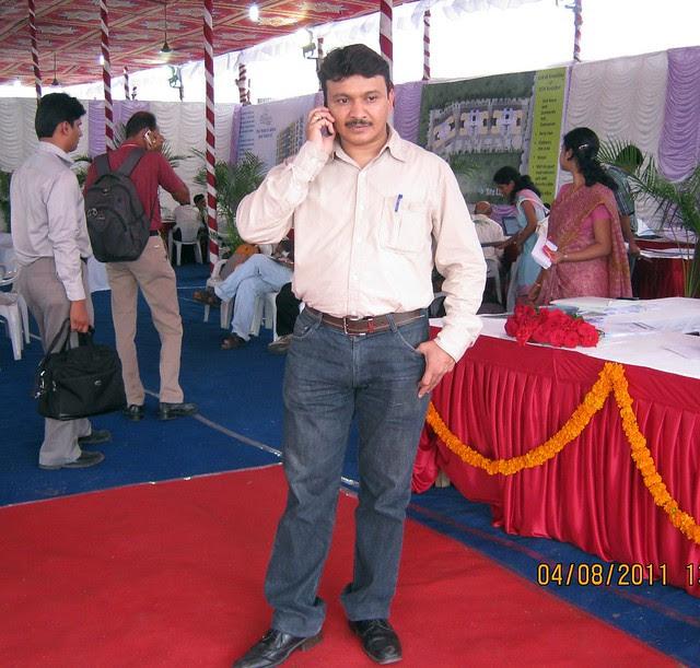 Mr. Manoj Adkar, Media Manager, at the launch of DSK Kunjaban - 1 BHK 2 BHK Flats - Punawale - off Mumbai Bangalore Bypass - Pune 411 045