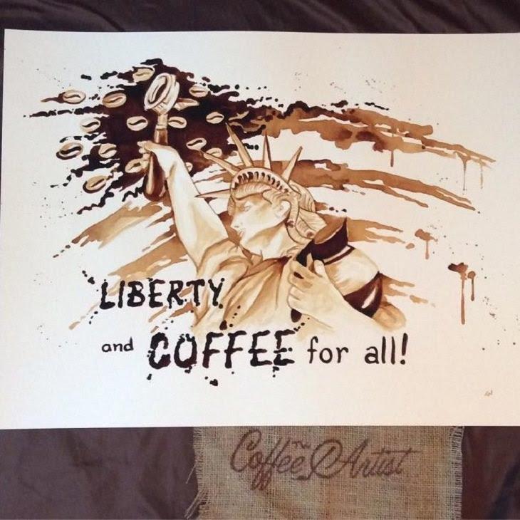 Eu não sabia que o café poderia produzir maravilhosas artes