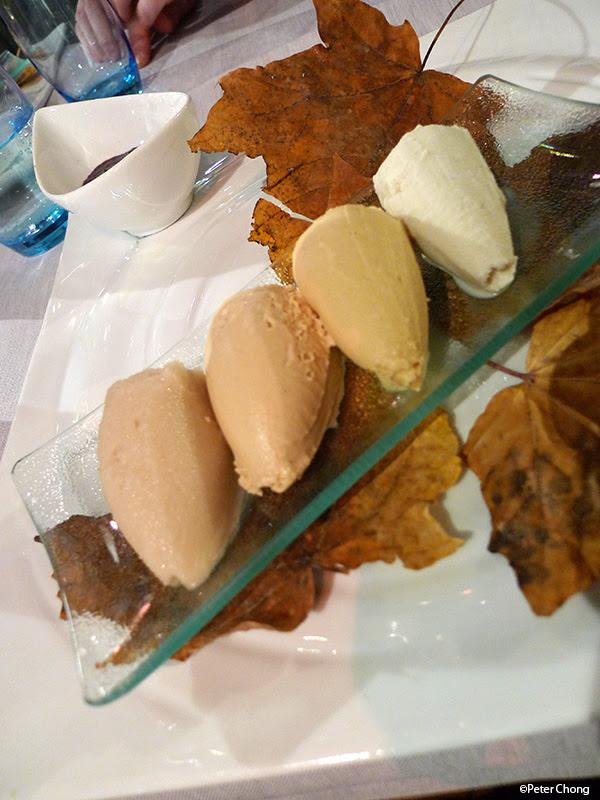 dessert sorbet of 4 mushrooms at la maison du prussien nauchatel