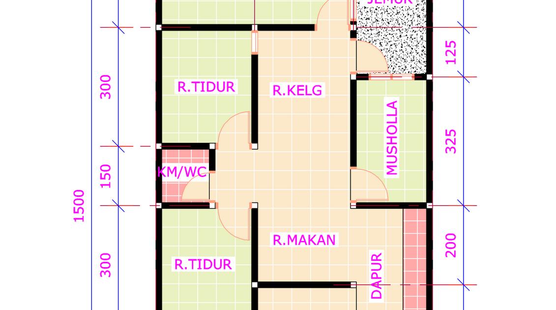 rumah ukuran 6x9 3 kamar tidur