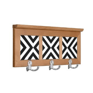 Black and White Chevrons Coat Racks