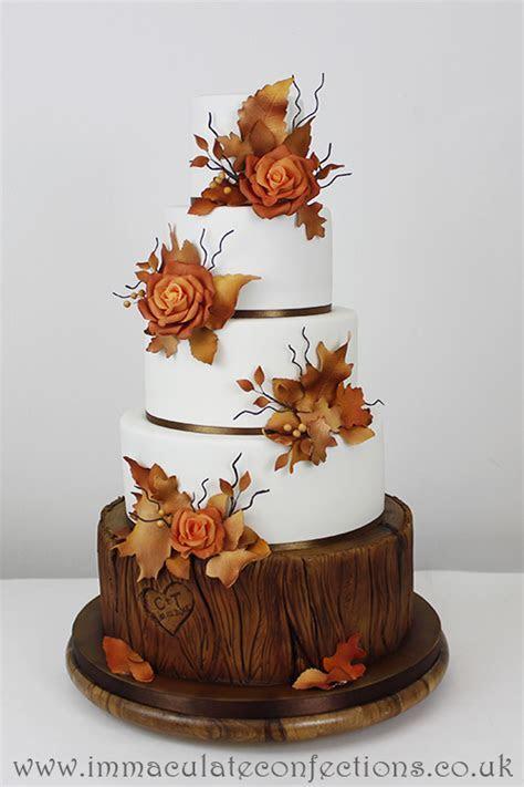 Autumn Rose Wedding Cake   Cakes by Natalie Porter