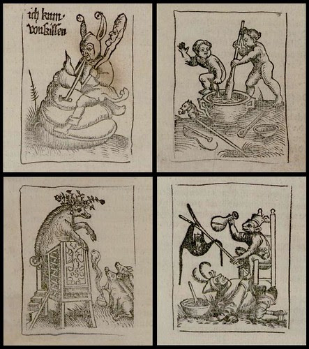 woodcuts: 4 absurd anthropomorphic satires