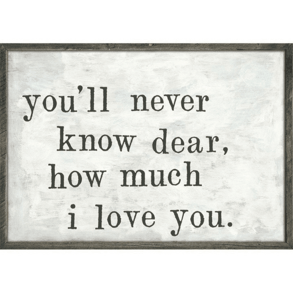 Youll Never Know Art Print Sugarboo Co