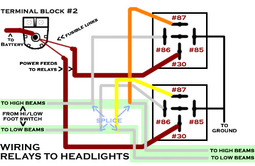 35 Headlight Relay Wiring Diagram