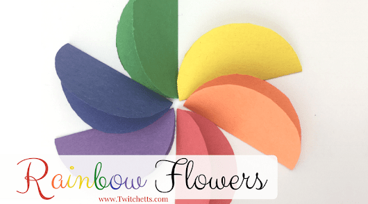 Construction Paper Crafts for Kids ~ Rainbow Flowers - Twitchetts
