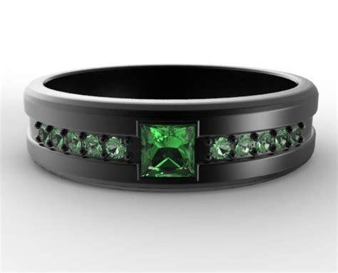 emerald wedding bands ideas  pinterest gold