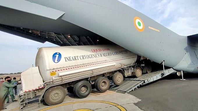 एयरलिफ्ट करके Oxygen प्लांट भेजे जाएंगे टैंकर, केंद्र ने UP को दिए वायु सेना के स्पेशल विमान