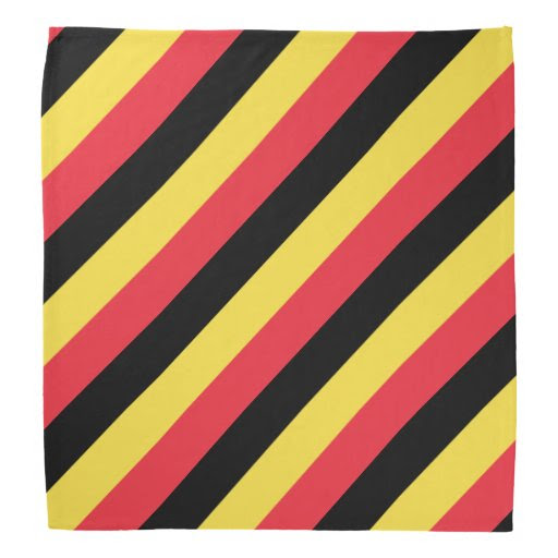 Belgian flag bandana | Colors of Belgium | Zazzle