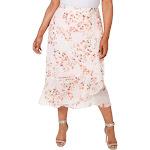 Calvin Klein Womens Plus Floral Ruffled Midi Skirt Pink 22W