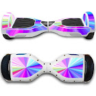 GameXcel (Other, Rainbow) - Self-Balancing Scooter Skin Hover Electric Skate Board Sticker Self Balance Motorised Longboard Decal