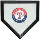 Schutt Texas Rangers Authentic Mini Home Plate from SE Sports Memorabilia.com