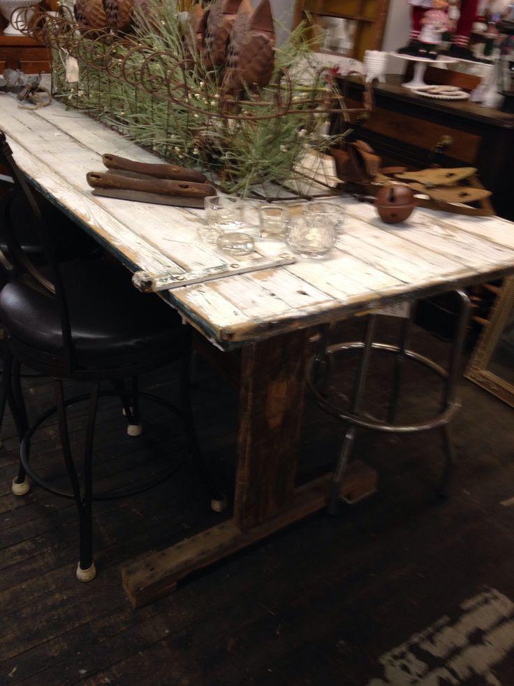 Salvage Angel barn door dining table   Dining Room   Pinterest