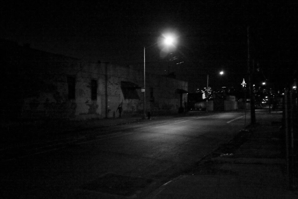 Walking home alone at night