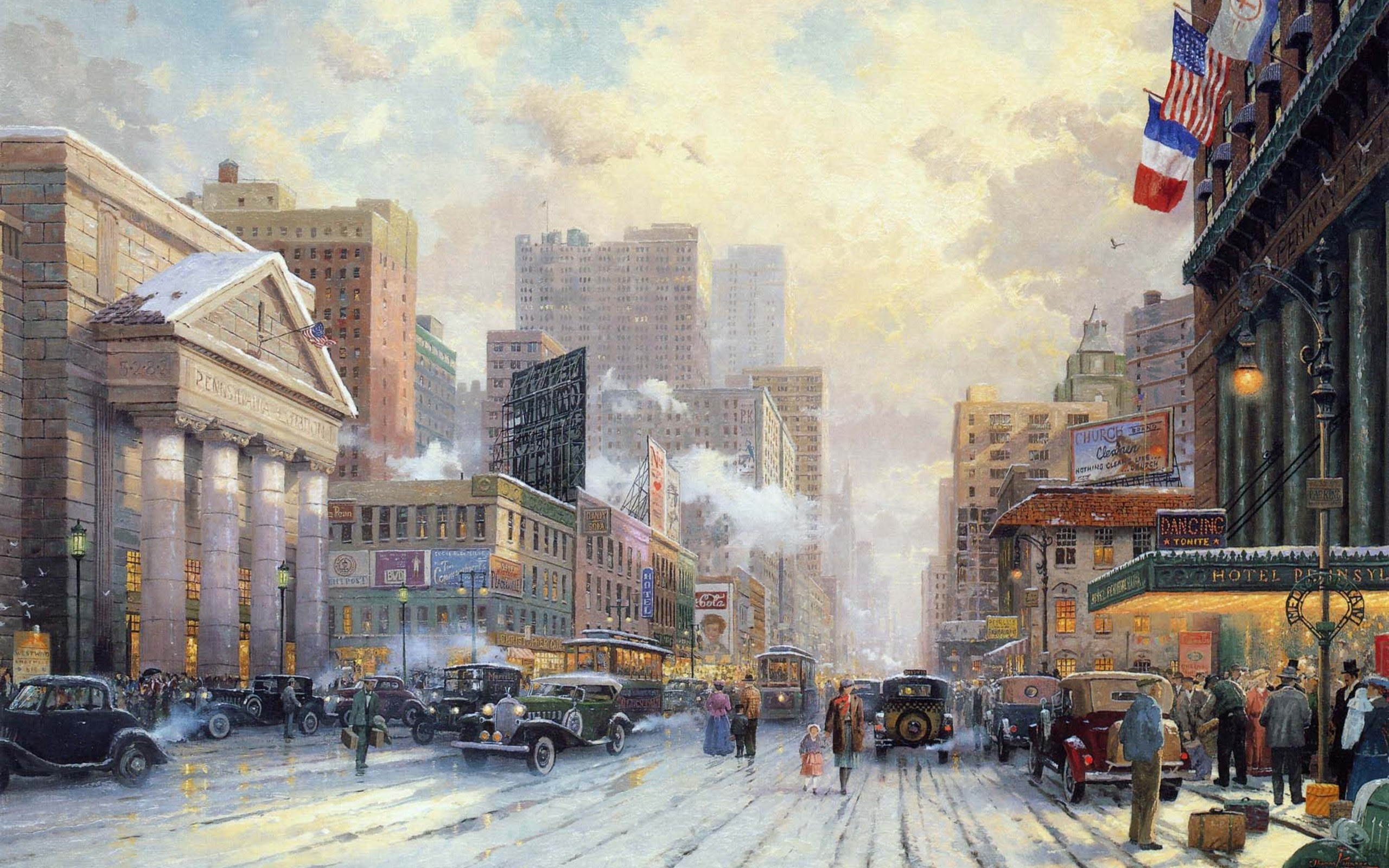 Thomas Kinkade Winter Wallpapers 66 Background Pictures