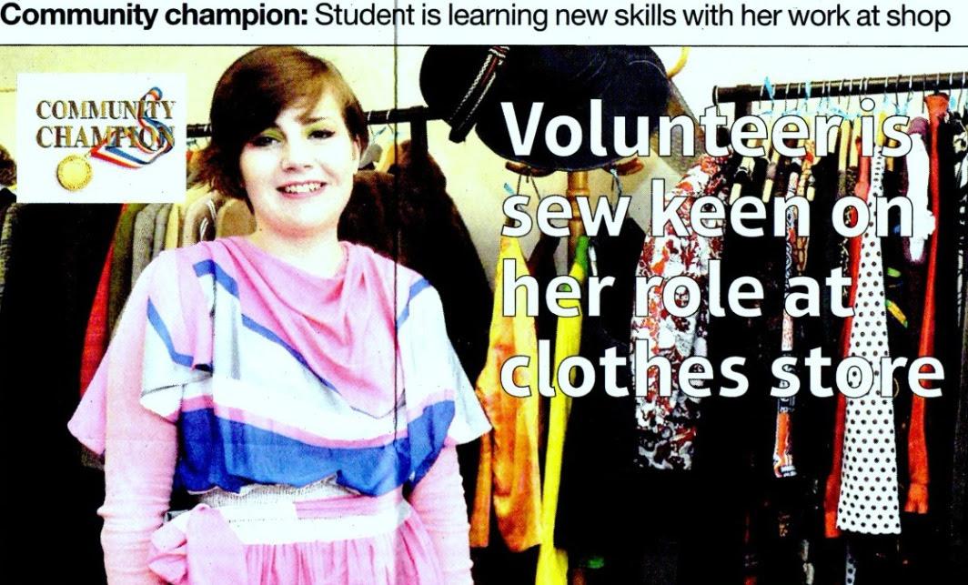 Community Champion piece for volunteer work