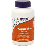 L-Carnosine Antioxidant 500 mg By Now Foods - 100 Vegetarian Capsules